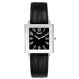 Piaget Altiplano Ultra Thin 18K White Gold Black Dial Mens Watch 9930