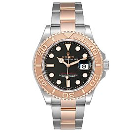 Rolex Yachtmaster 40 Everose Gold Steel Brown Dial Mens Watch 116621