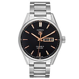 Tag Heuer Carrera Calibre 5 Day Date Steel Mens Watch WAR201C