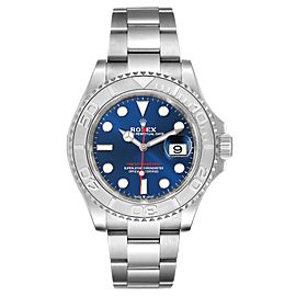 Rolex Yachtmaster Steel Platinum Blue Dial Mens Watch 126622