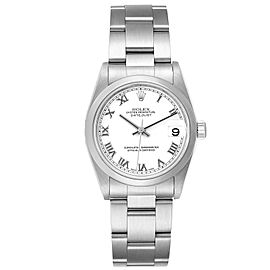 Rolex Datejust 31 Midsize White Roman Dial Steel Ladies Watch 78240 Box