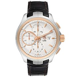 TAG Heuer Link Steel Rose Gold Chronograph Mens Watch CAT2050