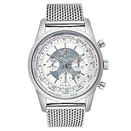 Breitling Transocean Chronograph Unitime Steel Mens Watch Watch AB0510