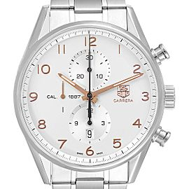Tag Heuer Carrera Chronograph Silver Dial Mens Watch