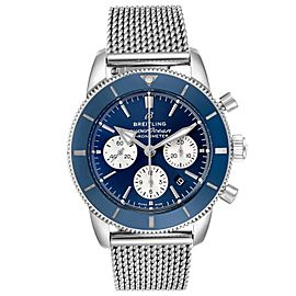 Breitling SuperOcean Heritage II B01 Blue Dial Steel Mens Watch AB0162