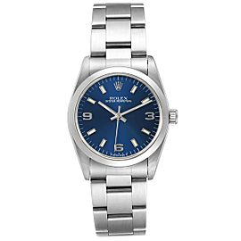 Rolex Midsize 31mm Blue Dial Automatic Steel Ladies Watch 67480