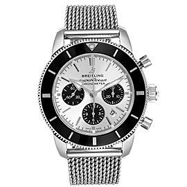 Breitling SuperOcean Heritage II B01 Silver Dial Steel Mens Watch AB0162