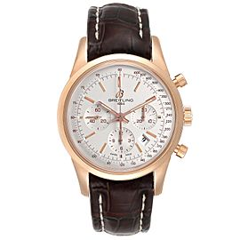 Breitling Transocean 43mm Rose Gold Mens Watch RB0152