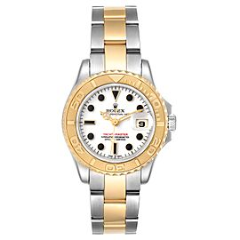 Rolex Yachtmaster 29mm White Dial Steel Yellow Gold Ladies Watch 169623