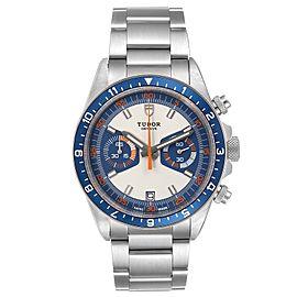 Tudor Heritage Chrono Blue Stainless Steel Mens Watch 70330