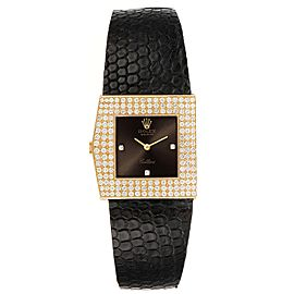 Rolex Cellini Midas Yellow Gold Slate Dial Diamond Vintage Watch 4031