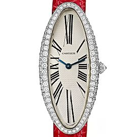 Cartier Baignoire Allongee White Gold Diamond Ladies Watch