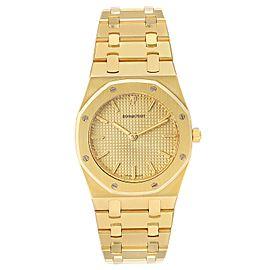 Audemars Piguet Royal Oak Midsize 33mm Yellow Gold Mens Watch