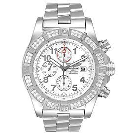 Breitling Super Avenger Chronograph Diamond Steel Mens Watch A13370