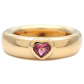 Tiffany & Co. Pink Tourmaline Yellow Gold Friendship Ring