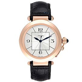 Cartier Pasha 42 Silver Dial Rose Gold Mens Watch W3019351