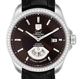 Tag Heuer Grand Carrera Date Brown Dial Steel Mens Watch WAV511E