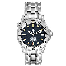 Omega Seamaster Midsize 36 Blue Dial Steel Mens Watch