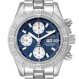 Breitling Aeromarine Superocean Blue Dial Mens Watch A13340 Box Papers