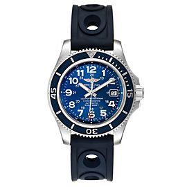 Breitling Superocean II Blue Dial Steel Mens Watch A17365