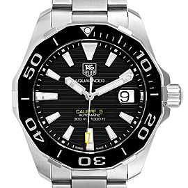 Tag Heuer Aquaracer Black Dial Steel Mens Watch WAY211A