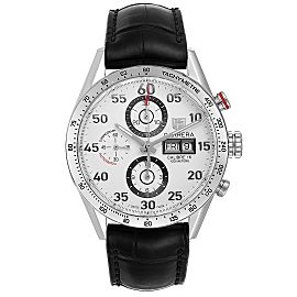 Tag Heuer Carrera Day-Date Silver Dial Mens Watch CV2A11