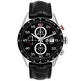 Tag Heuer Carrera Black Dial Chronograph Mens Watch CAR2A10