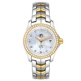 TAG Heuer Link MOP Steel Yellow Gold Diamond Ladies Watch WJF1354