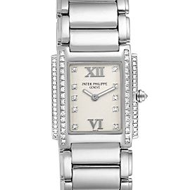 Patek Philippe Twenty-4 White Gold Diamond Ladies Watch 4908
