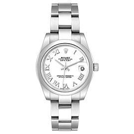 Rolex Midsize 31 Datejust White Dial Domed Bezel Steel Ladies Watch 178240