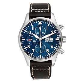 IWC Pilot Prince Blue Dial Chronograph Mens Watch IW377714