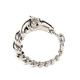 Hermes Galop Bracelet Sterling Silver and Diamonds Large