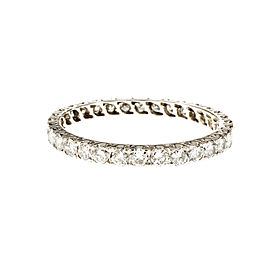 Platinum with Diamond Eternity Band Ring Size 8