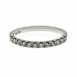 18K White Gold with 12 Diamond Band Ring Size 6.75