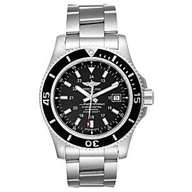 Breitling Superocean II 44 Black Dial Steel Mens Watch A17392