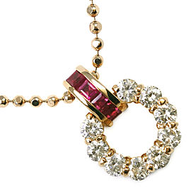 18k yellow gold/Ruby/diamond Necklace