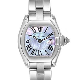 Cartier Roadster Purple MOP Steel Ladies Watch W6206007