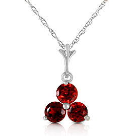 0.75 CTW 14K Solid White Gold Is A Marvel Garnet Necklace