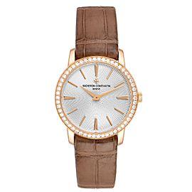 Vacheron Constantin Traditionnelle 18k Rose Gold Diamond Ladies Watch 81590