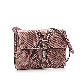 Python Jackie Convertible Crossbody Bag