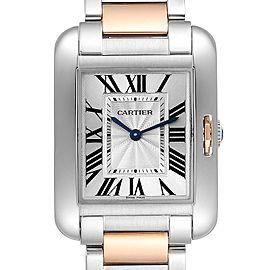 Cartier Tank Anglaise Medium Steel Rose Gold Ladies Watch