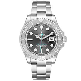 Rolex Yachtmaster Rhodium Dial Steel Platinum Mens Watch 116622