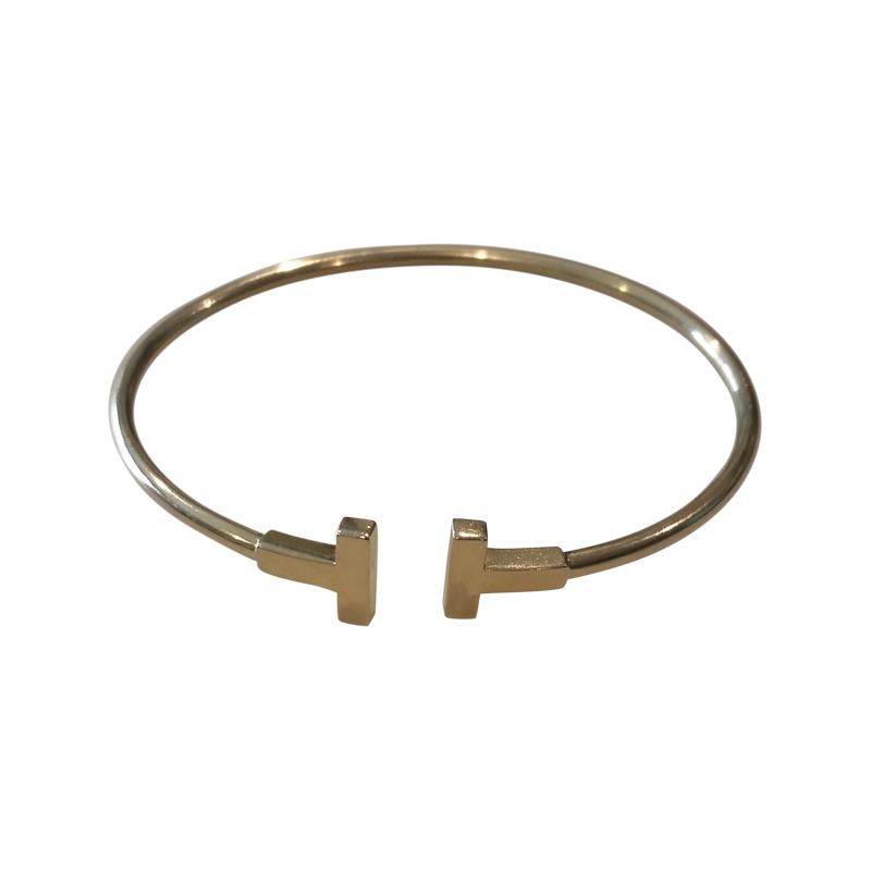 Tiffany Co 18k Yellow Gold T Wire Bracelet Buy At Truefacet
