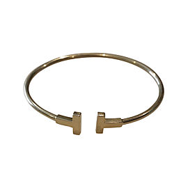 Tiffany & Co. 18K Yellow Gold T Wire Bracelet
