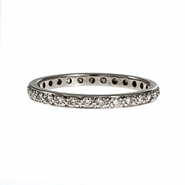 18K White Gold Diamond Band Ring Size 5.25