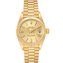 Rolex President Datejust 18K Yellow Gold Ladies Watch