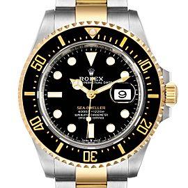 Rolex Seadweller Black Dial Steel Yellow Gold Mens Watch