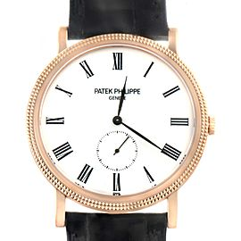 Patek Philippe Calatrava Rose Gold Mens Watch