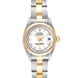 Rolex Datejust Steel Yellow Gold White Dial Ladies Watch 69163