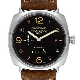 Panerai Radiomir Acciaio 47mm 10 Days GMT Steel Watch
